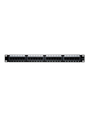 24 Port Cat6 Patch Panel, Horizontal, 110 Type, 568A & 568B Comp