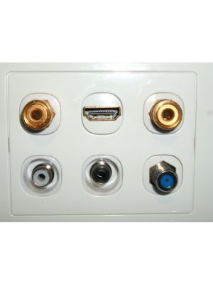 6 Gang Wall Plate to suit inserts